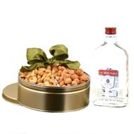 A Kosher Sobieski Vodka & Nuts Gift Tin