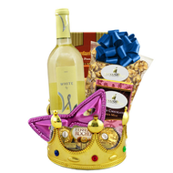 A Happy Purim White Wine Kosher Basket