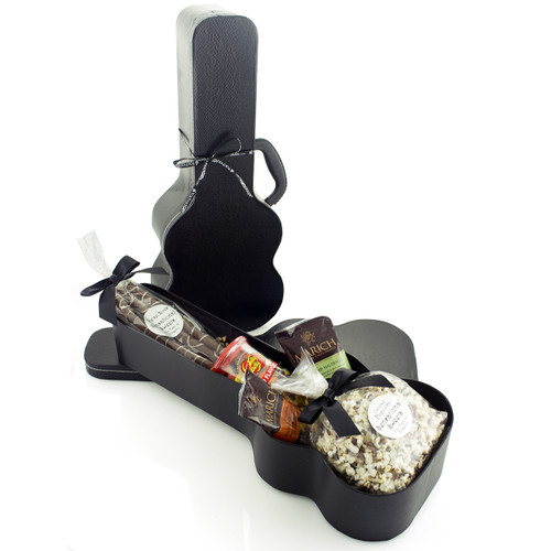 A Music Lover Guitar Case Kosher Purim Gift Basket