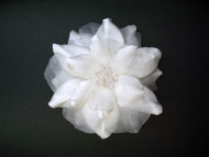 Antique White Camellia Bridal Hair Dress Accessory Set Swarovski