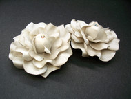 Audrey Gardenia Shoe Clips Accessory Seashell Beige Swarovski Elements