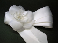 Authentic Couture Bridal Camellia Choker White Wedding Dress Hair Clip