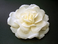 Bridal Hair Accessory Rose Ivory Silk Flower Clip Couture Wedding Veil