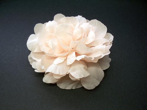 Bridal Hair Accessory Silk Hair Flower Wedding Veil Pale Pink Peony
