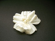 Bridal Hair Accessory Silk Ivory Rose Hair Clip Pearls Swarovski