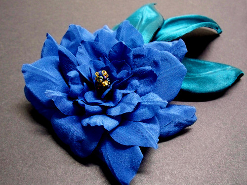 Bridal Hair Accessory Wedding Veil Something Blue Vine Camellia Clip