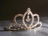 Bridal Hair Crown Tiara Metal Crystal Wedding Veil Accessory