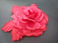 Bridal Red Bermuda Queen Silk Rose Flower Wedding Hair Accessory
