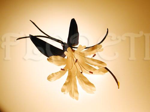 Bridal Tropical Flower Hair Clip Exotic Orchid Wedding Veil Accessory