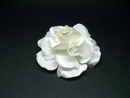 Bridal White Silk Magnolia Wedding Floral Hair Accessory Pin-up Flower