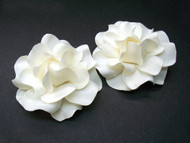 Couture Audrey Ivory Gardenia Bridal Shoe Clip Accessories Set of 2
