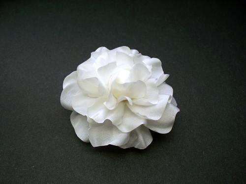 Couture Bridal Hair Accessory Gardenia White Silk Flower Wedding Veil