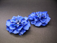 Couture Bridal Shoe Clips Periwinkle Something Blue Audrey Gardenia