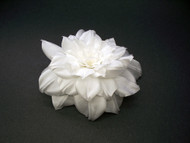 Dress Pin Pure White Camellia Handmade Silk Flower Accessory