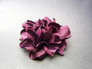 Gardenia Small Bridesmaids Dress Pin Silk Flower Sash Belt Warm Plum
