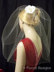 Gigi French Bridal Birdcage Veil  Wedding Hair Accessory