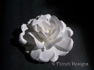 Handmade Polianta White Rose Wedding Dress Pin Silk Flower