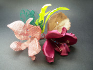Hawaiian Sunset Orchid Bridal Corsage Tropical Wedding Flower Accessor
