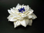 Ivory Camellia Something Blue Bridal Hair Clip Wedding Dress Swarovski