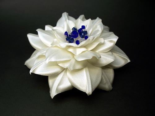 Ivory Camellia Something Blue Bridal Hair Clip Wedding Dress Swarovski