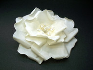 Ivory French Silk Rose Wedding Dress Bridal Accessory Pearls Swarovski