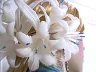 Ivory Lily Wedding Turquoise Blue Veil Accessory Bridal Hair Comb