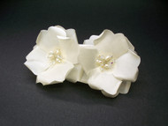 Ivory Rose Bridal Hair Clip Pearls Swarovski Wedding Veil Accessory