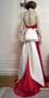 Ivory Silk Dupioni Bridal Dress Sash Pin Poppy Rose Large Fascinator Clip Wedding Dress Accessory