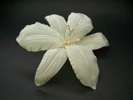 Ivory Stargazer Bridal Lily Hair Clip Veil Accessory Swarovski pearl