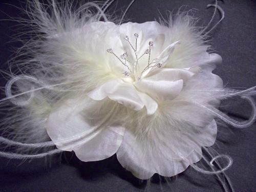 Ivory Wedding Dress Pin Fascinator Tropical Flower Bridal Accessory Bridal Dress Sash Wedding Dress Accessory