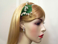 Lily of the Valley Bridal Headband White Romantic Wedding Accessory