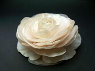 Pearl Champagne Pink Ranunculus Bridal Hair Accessory Wedding Flower