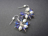 Pearl Crystal Dangle Earrings Something Blue Gifts