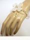 Pidraya Silver Bridal Swarovski Ivory Organdy Bracelet