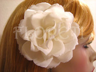 Polianta Bridal Ivory Rose Silk Hair Flower Wedding Clip Accessory