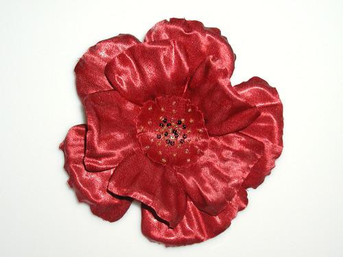 Poppy May Red Poppy Pin Handmade French Silk Flower Dress Accessory
