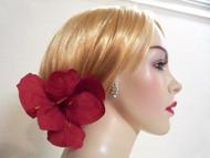 Red Amaryllis Silk Bridal Hair Clip Accessory Wedding Dress Corsage