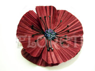 Red Poppy Hair Clip Oriental Flower Pin Up Hair Accessory Perfect Gift