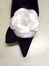 Satin White Camellia Wedding Shoe Clips Bridal Shoe Accessories