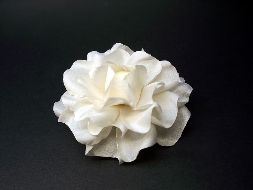 Small Antique White Silk Gardenia Bridal Hair Clip Accessory Pin Up