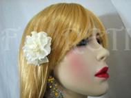 Small Bridal Hair Flower Silk Handmade Ivory Gardenia