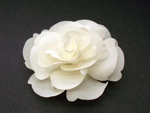 Small Ivory Magnolia Silk Flower Couture Bridal Hair Clip Wedding Gift