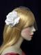 Wedding Bridal Bandeau Birdcage Veil Champagne Rose Hair Flower Headwear