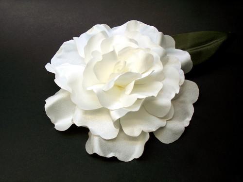 White Dress Pin Gardenia First Communion Accessory Comb