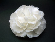 White Peony Wedding Dress Hair Flower Bridal Accessory First Communion