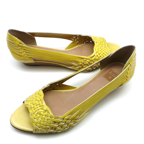 Shoes Flats Frye Cameron Skimmer Lemon Yellow 8M 72340 5026/ L07 (ZFRY011)