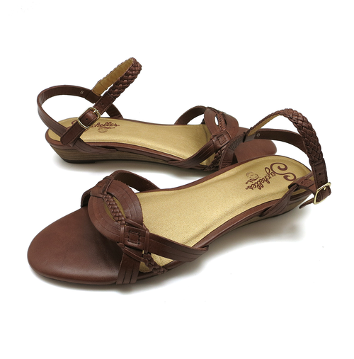 Shoes Flats Seychelles Frequent Flier Whiskey Leather Sandals 8M (NB02939)