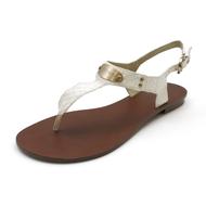 Shoes Sandals Michael Kors MK Plate Thong Genuine Snake Skin Leather White 7-1/2M (40U8PLFA2R)