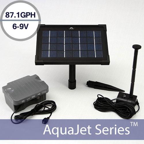 Solar Water Fountain Pump with Battery Backup 9V AquaJet Pro Kit