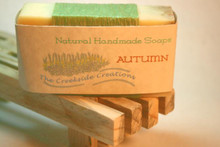 this soap warms the heart with rich goat milk, swirls of wheat germ and the sensual fragrances of the Earth!